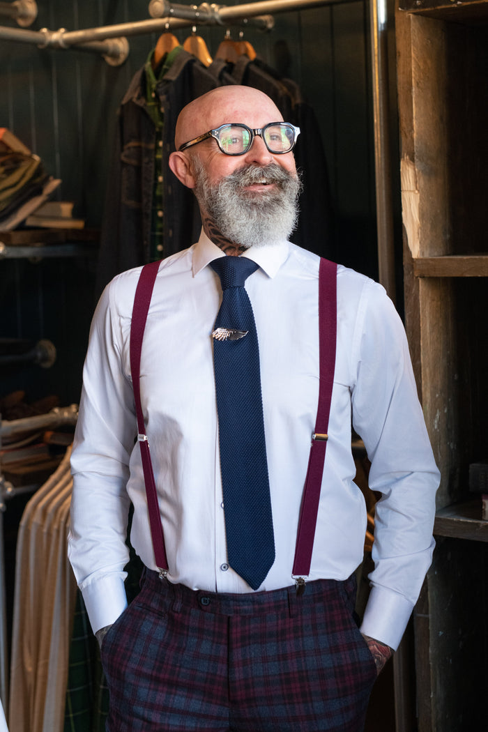 Knightsbridge Neckwear Burgundy Braces