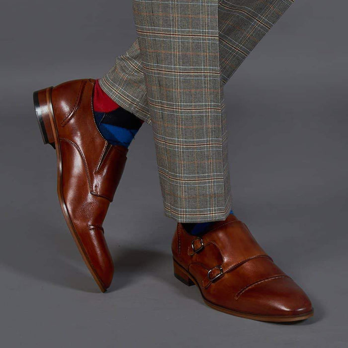 Lacuzzo Brown Monk Strap Shoes