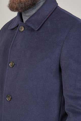 Lavard Lavard Navy Faux Wool Overcoat £75.00