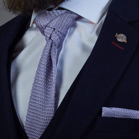 Lavender Purple Knitted Silk Knitted Tie