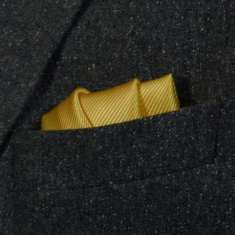 Lemon Woven Silk Pocket Square