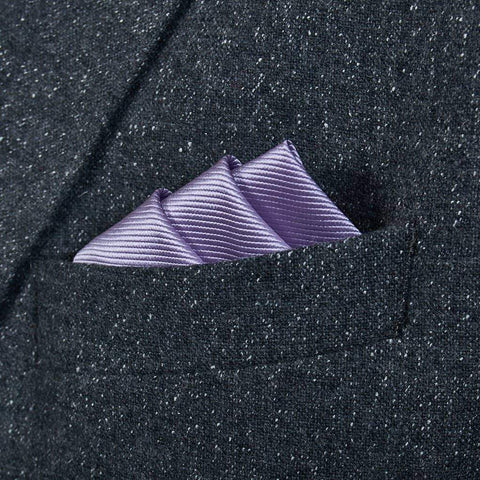 Lilac Woven Silk Pocket Square