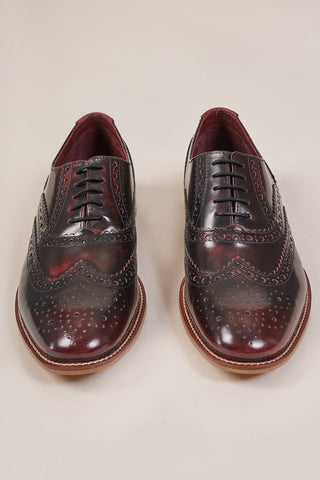 London Brogues Gatsby Bordo Brogue Shoe