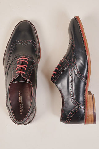 London Brogues George Black Brogue Shoe