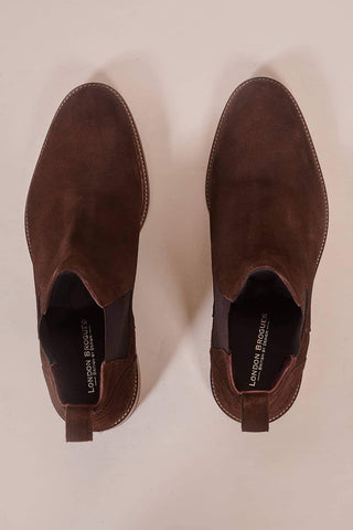 London Brogues Hamilton Brown Suede Chelsea Boots
