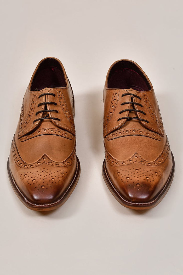 London Brogues William Derby Tan Shoes