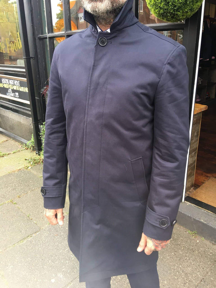 Lyn Oakes Lloyd Raincoat - Navy