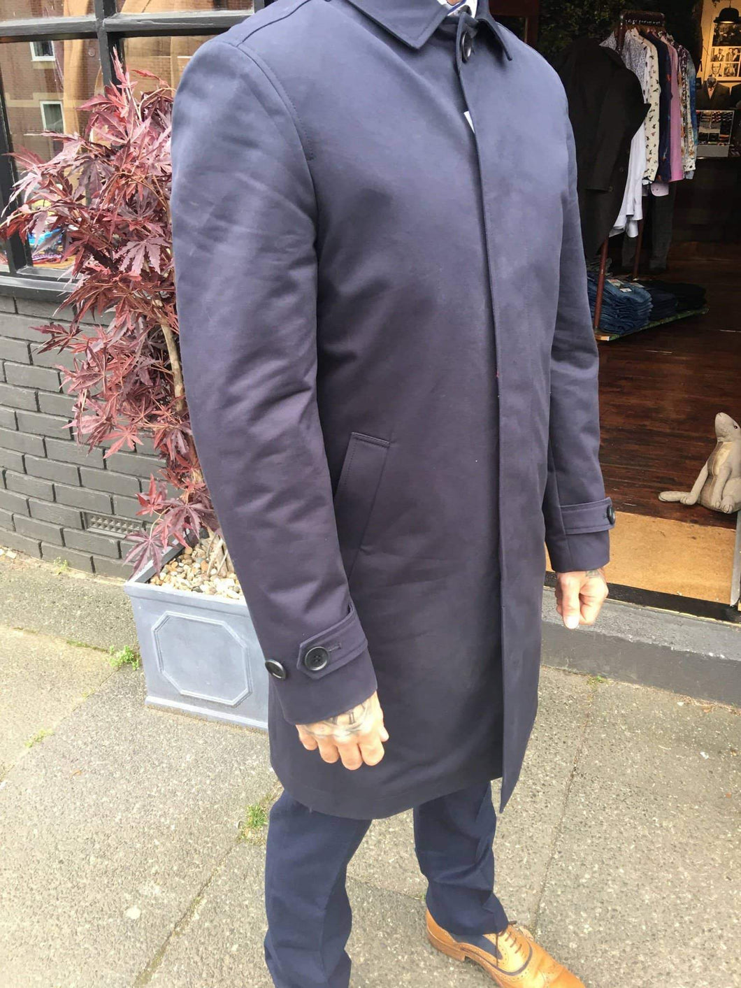 Lyn Oakes Lloyd Raincoat - Navy 36