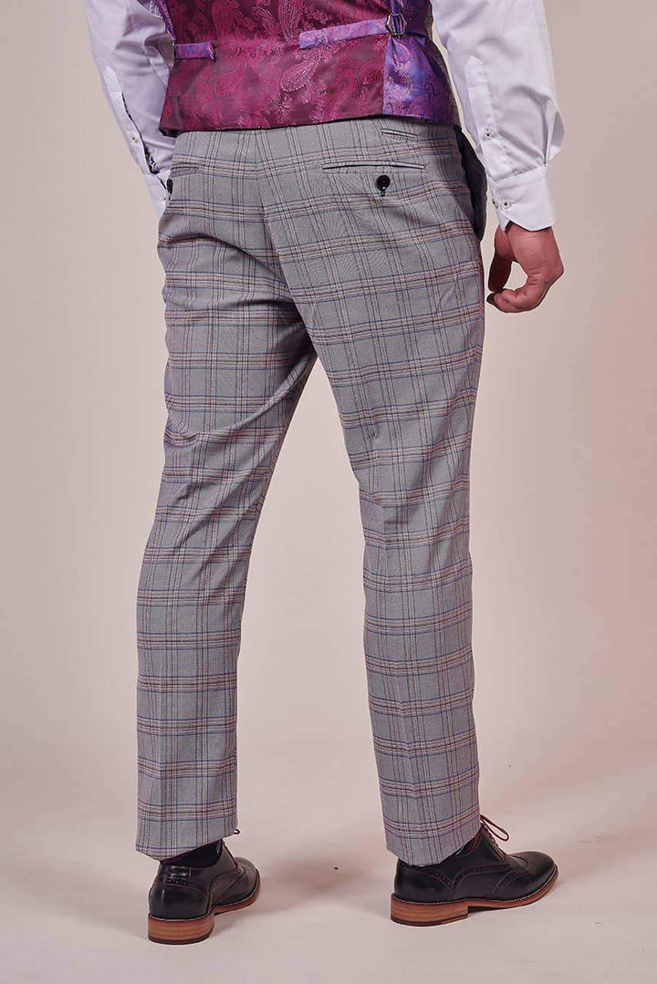 Marc Darcy Marc Darcy Alvin Grey with Pink Check 3 Piece Suit £228.97