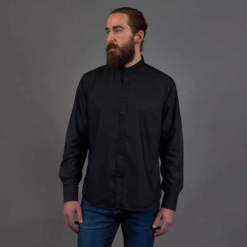 Marc Darcy Marc Darcy Black Long Sleeve Grandad Shirt £20.00