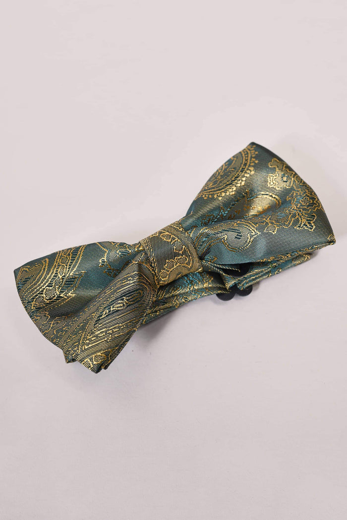 Marc Darcy Boys Tan Paisley Bow Tie One Size