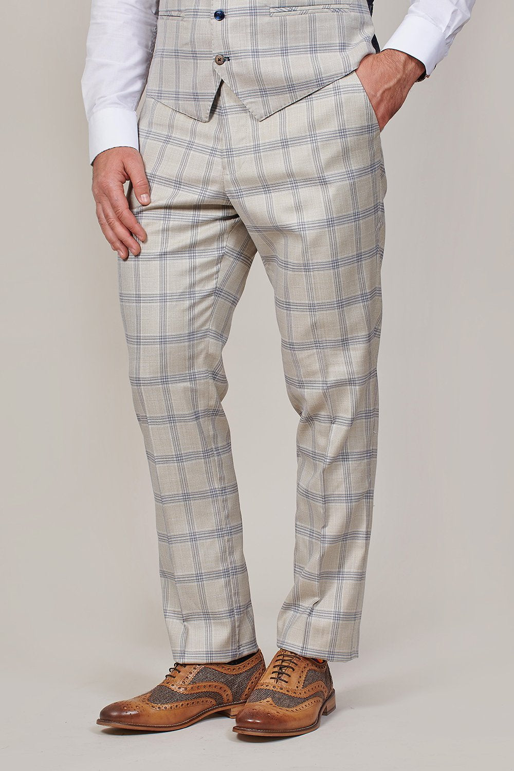 Marc Darcy Marc Darcy Buxton Stone Check Trousers £24.99