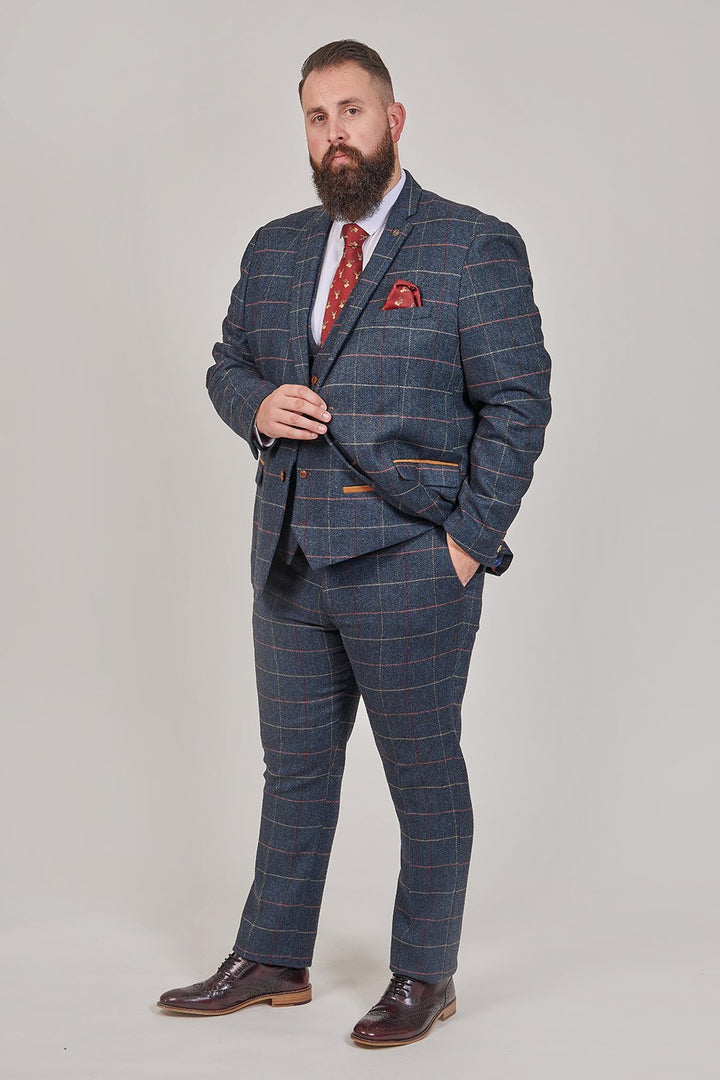 Marc Darcy Marc Darcy Eton Navy Check Tweed Style 3 Piece Suit £224.97
