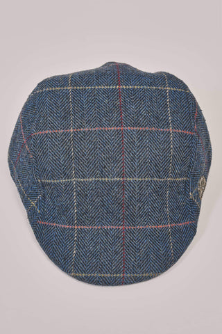 Marc Darcy Marc Darcy Eton Navy Check Tweed Style Flat Cap £19.99