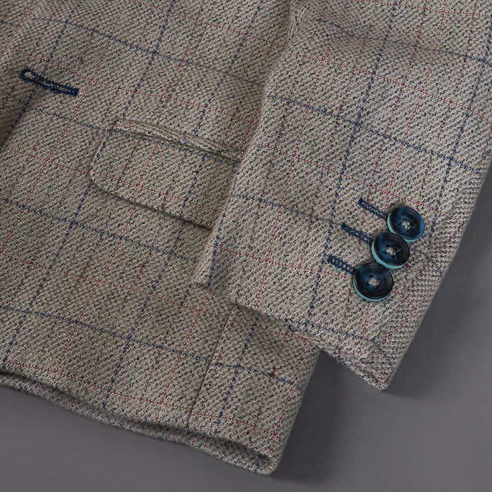 Marc Darcy Harding Cream Check Tweed Style Boys 3 Piece Suit