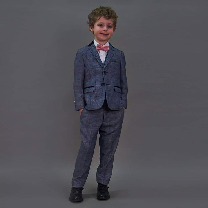 Marc Darcy Hilton Check Tweed Style Boys 3 Piece Suit Age 1