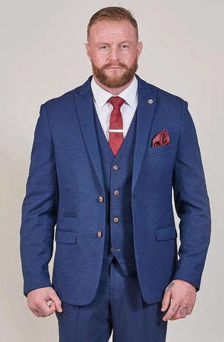 Marc Darcy Max Royal Blue Blazer with Contrast Buttons