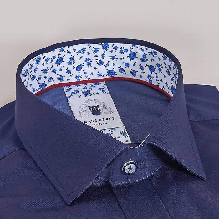 Marc Darcy Navy Shirt With Floral Detail