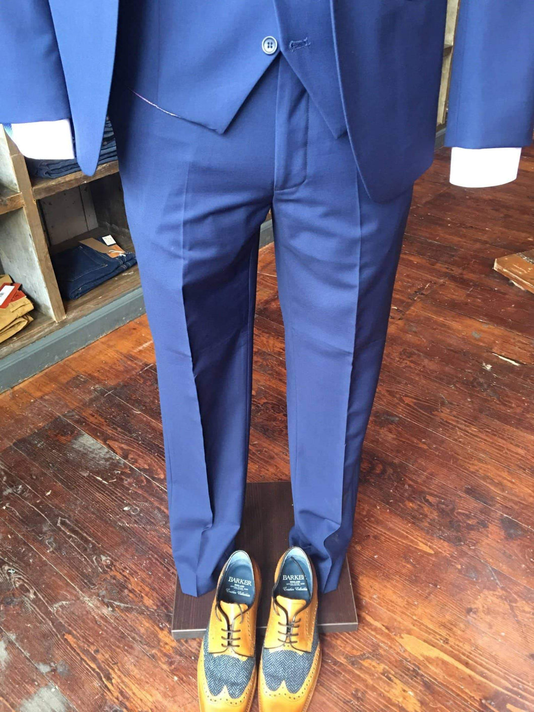 Marc Darcy Royal Blue Suit Trousers 28R / Blue