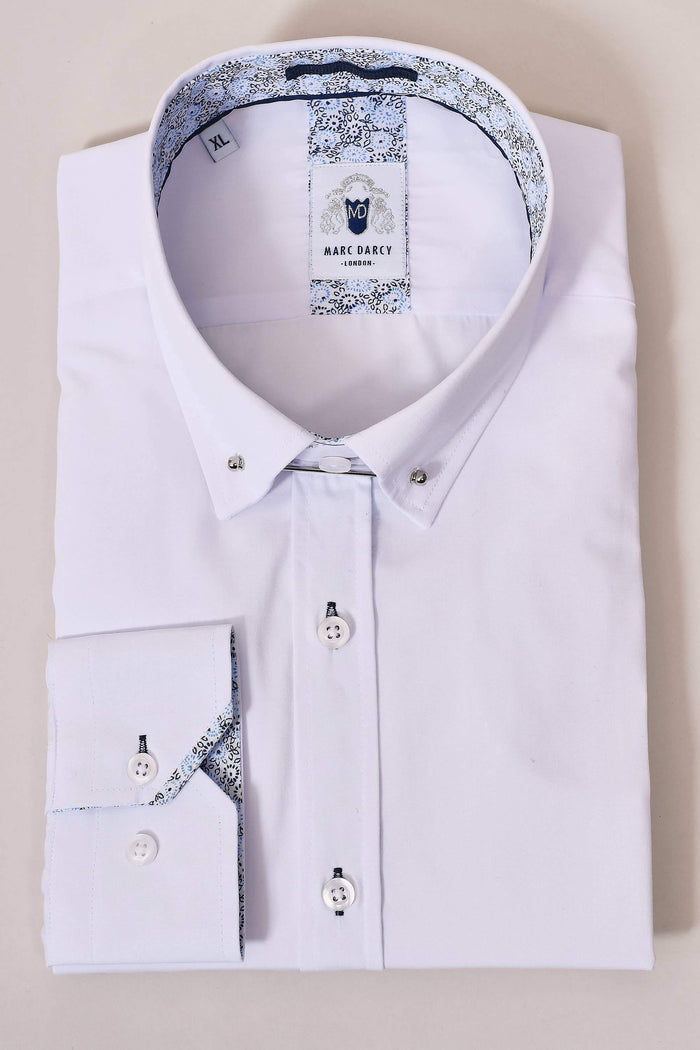 Marc Darcy Marc Darcy White Pin Collar Shirt With Collar Bar £39.99