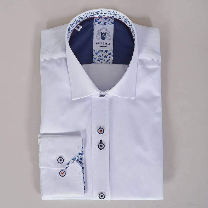Marc Darcy White Shirt With Floral Detail