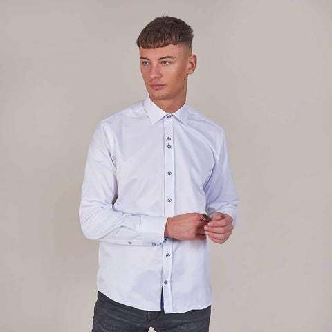 Marc Darcy White Shirt With Floral Detail S / White
