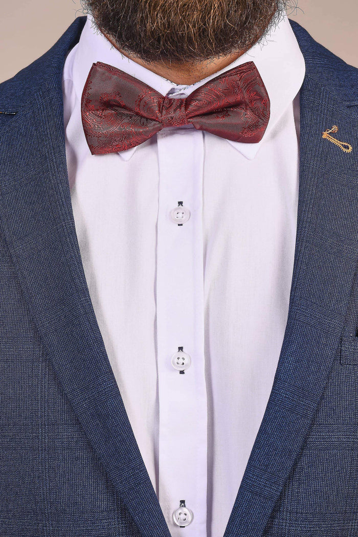 Marc Darcy Marc Darcy Wine Paisley Bow Tie, Pocket Square & Cufflink Set £14.99