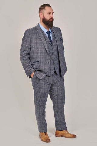 Master Debonair Lestrade Prince Of Wales Grey And Navy Tweed 3 Piece Suit master-debonair-lestrade-prince-of-wales-grey-and-navy-tweed-blazer / master-debonair-lestrade-prince-of-wales-grey-and-navy-tweed-waistcoat / master-debonair-lestrade-prince-of-wales-grey-and-navy-tweed-trousers