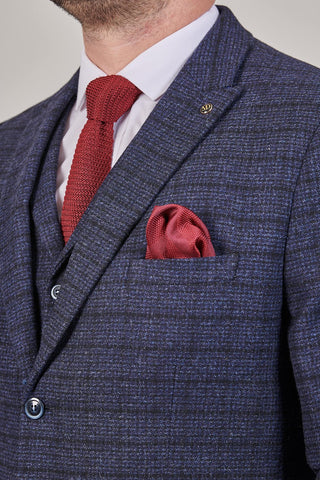 Master Debonair Moriarty Subtle Navy Check Tweed 3 Piece Suit master-debonair-moriarty-subtle-navy-check-tweed-blazer / master-debonair-moriarty-subtle-navy-check-tweed-waistcoat / master-debonair-moriarty-subtle-navy-check-tweed-trousers