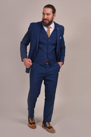 Master Debonair Navy Faint Check Suit master-debonair-navy-faint-check-blazer / master-debonair-navy-faint-check-waistcoat / master-debonair-navy-faint-check-trousers