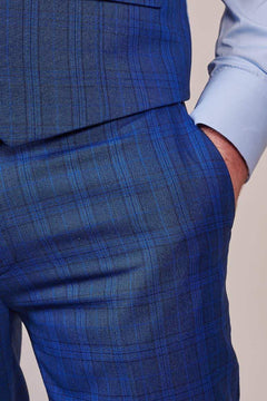 Master Debonair Master Debonair Royal Blue Check Trousers £45.00