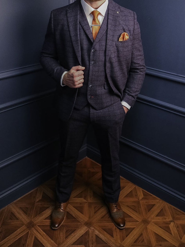 Moriarty 3 Piece Smart Look master-debonair-moriarty-subtle-navy-check-tweed-blazer / master-debonair-moriarty-subtle-navy-check-tweed-waistcoat / master-debonair-moriarty-subtle-navy-check-tweed-trousers