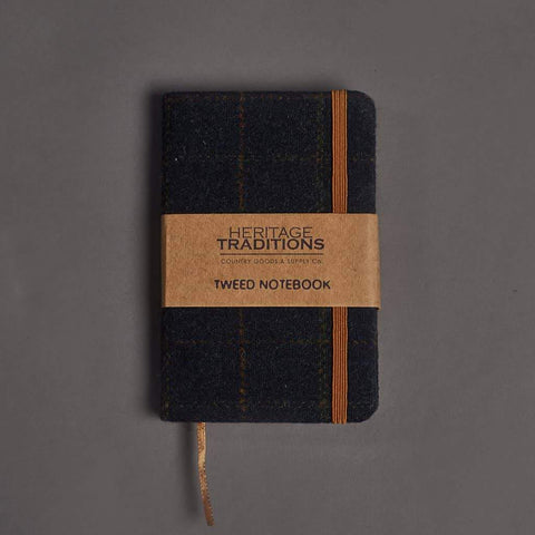 Heritage Traditions Navy Check Tweed Notebook £7.00