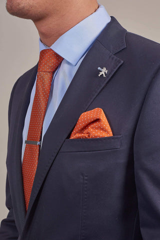Cavani Orange Spotted Tie, Pocket Square & Tie Clip Set £12.99