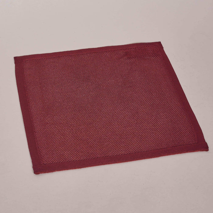 Knightsbridge Neckwear Plain Burgundy Silk Knitted Pocket Square £20.00