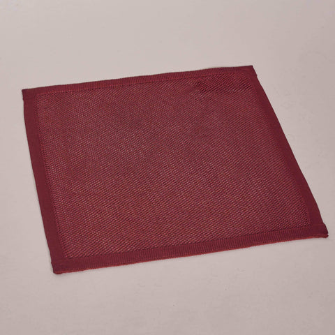 Plain Burgundy Silk Knitted Pocket Square
