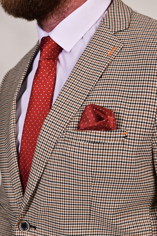 Red Dot Tie & Pocket Square Set Red
