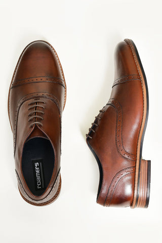 Roamers Brown Toe Cap Oxford Shoes