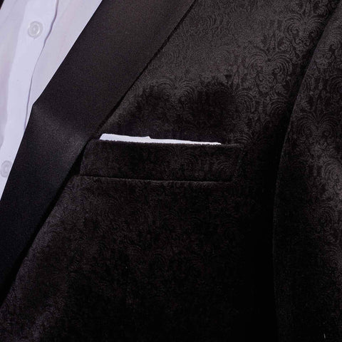 Robert Simon Black Dinner Jacket With Subtle Detail S (38R) / Black