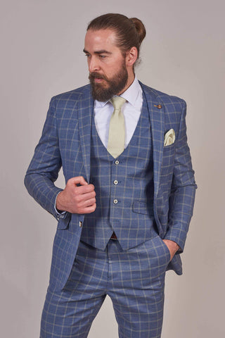 Robert Simon Robert Simon Denim Blue Check Blazer £77.00