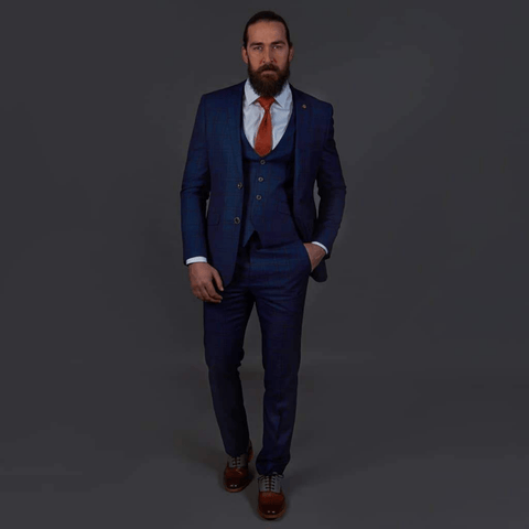 Robert Simon Navy Check Suit robert-simon-navy-check-suit-jacket / robert-simon-navy-check-double-breasted-waistcoat / robert-simon-navy-check-trousers
