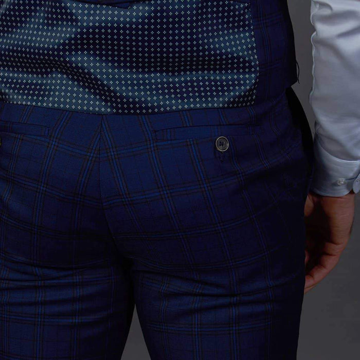 Robert Simon Robert Simon Navy Check Trousers £27.50