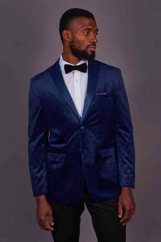 Robert Simon Navy Dinner Jacket With Subtle Detail