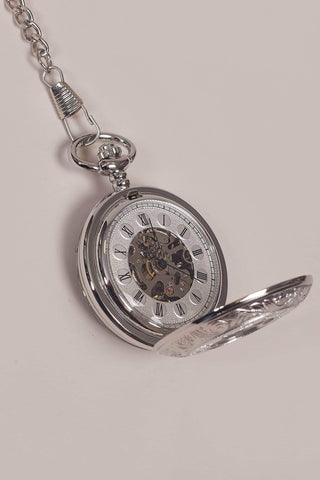 Silver Double Opener Half Hunter Pocket Watch