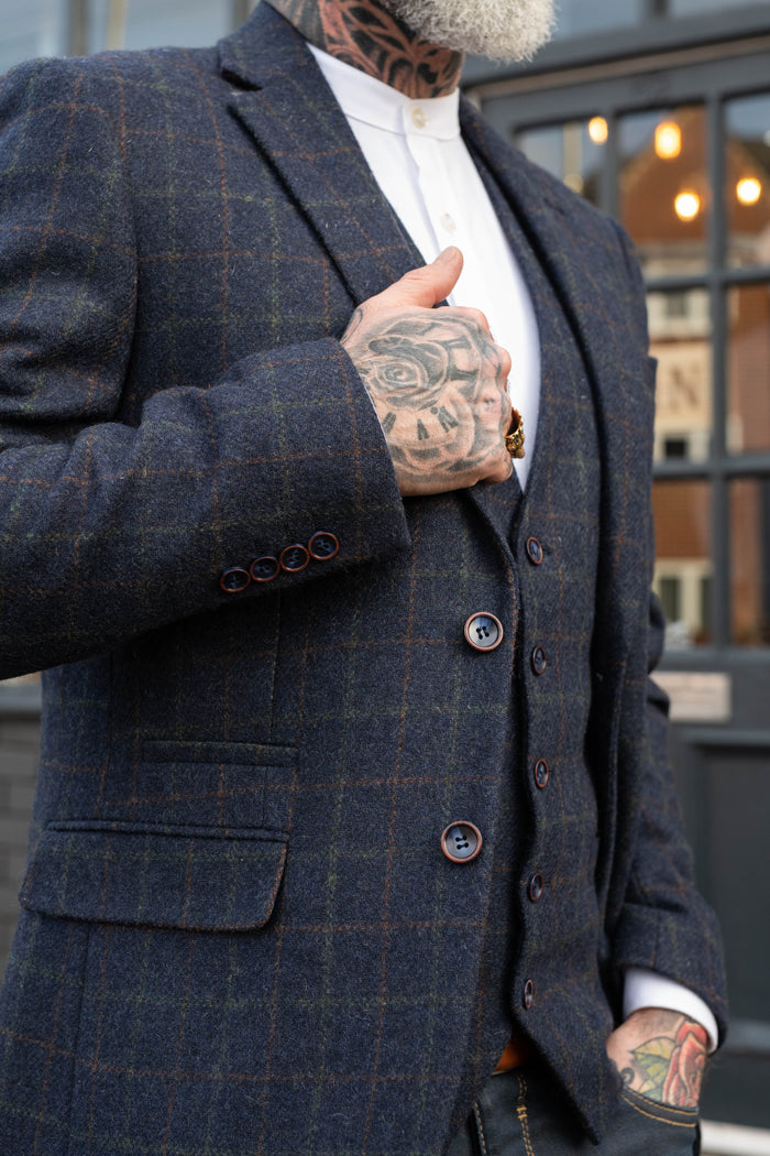 Skopes Hanagan Navy Check Blazer