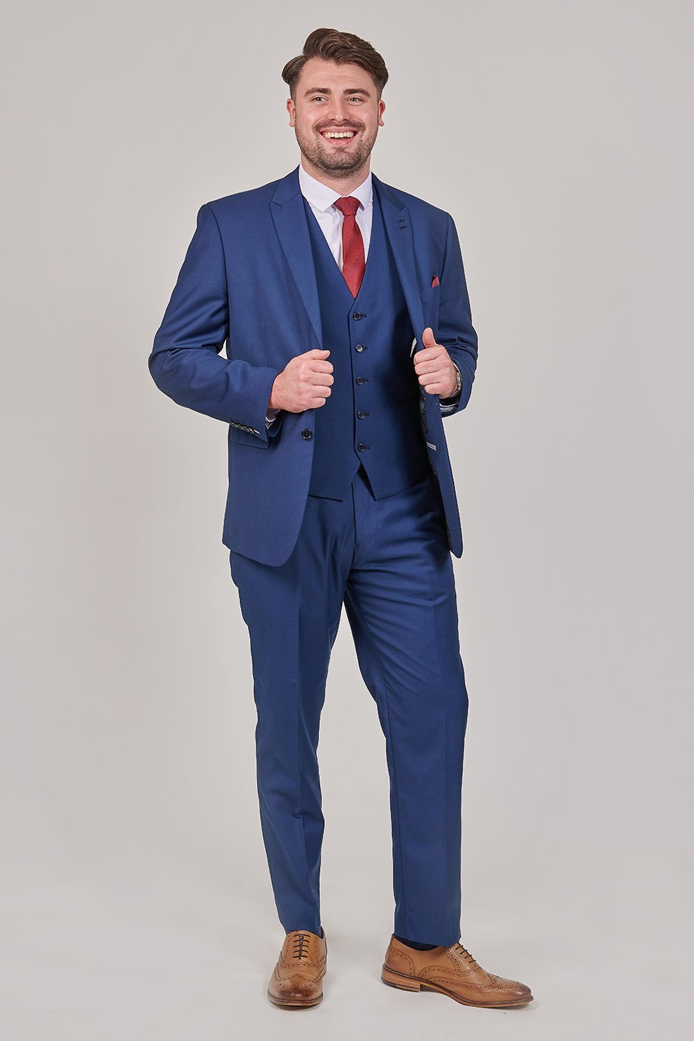 Skopes Kennedy Royal Blue 3 Piece Suit skopes-kennedy-royal-blue-suit-blazer / skopes-kennedy-royal-blue-suit-waistcoat / skopes-kennedy-royal-blue-tailored-fit-suit-trouser