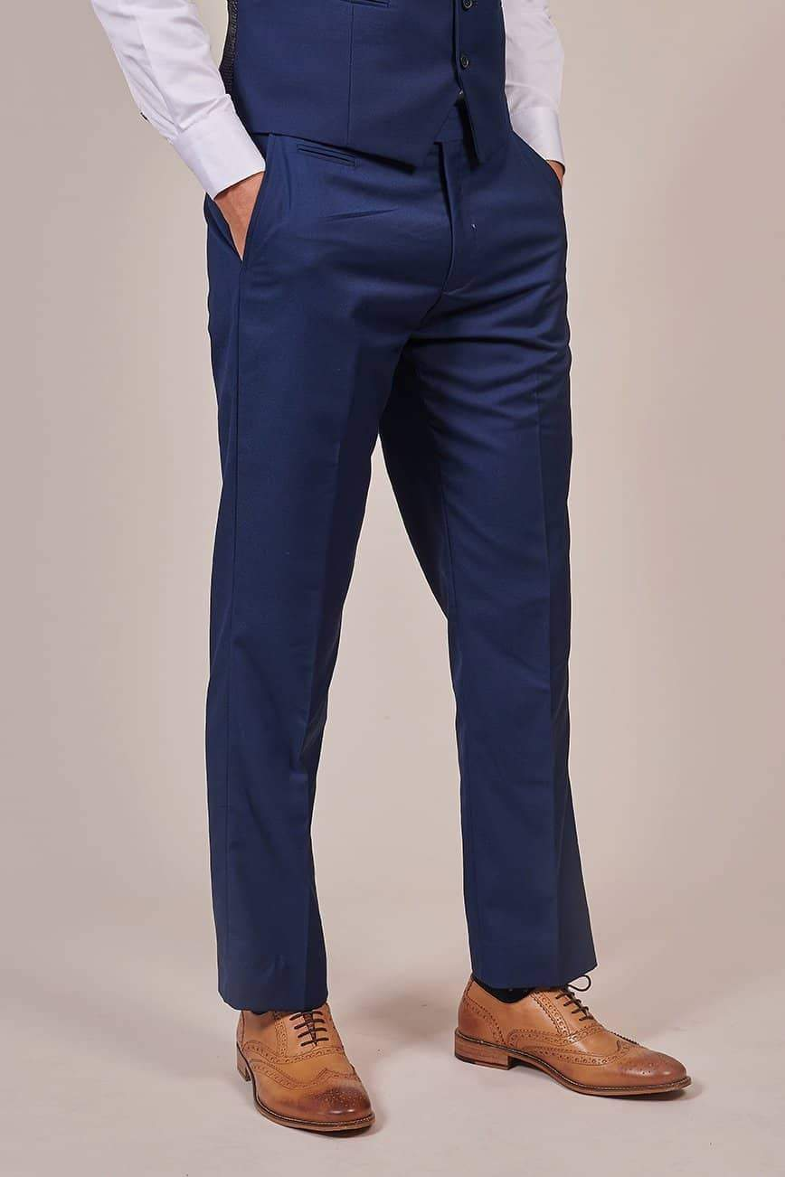 Skopes Kennedy Royal Blue Tailored Fit Suit Trousers