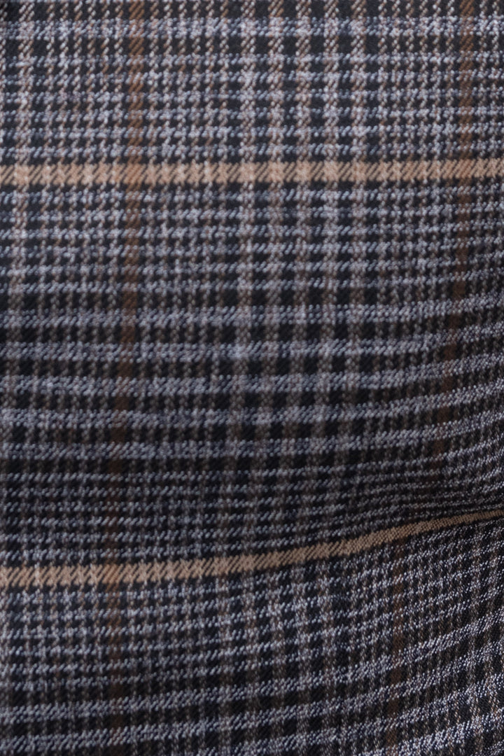 Skopes Leahy Brown Check 3 Piece Suit skopes-leahy-brown-check-blazer / skopes-leahy-brown-check-tailored-fit-waistcoat / skopes-leahy-brown-check-tailored-fit-trousers