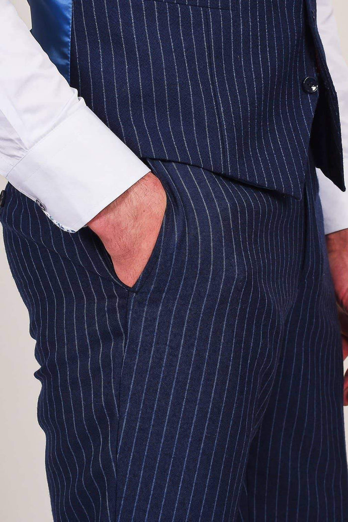 Skopes Skopes Navy Pinstripe Trousers £32.50