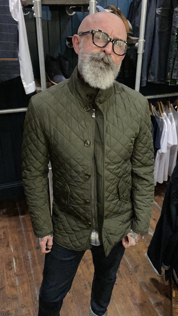 Skopes Pembridge Olive Quilted Coat